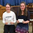 Scholarship recipients Katie Gluyas and Eva Bedggood.