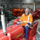 Tuapeka Vintage Club member Brian Taylor sits on a 1960s David Brown 950 tractor he restored for...