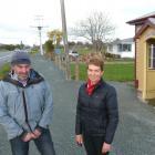 Clutha Gold Cycle Trail Trust deputy chairman David Vollweiler and secretary Jill Allison take in...