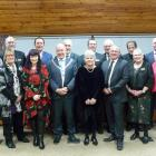 Re-elected and incoming Clutha district councillors at yesterday's swearing-in ceremony in...