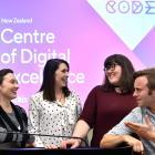 RocketWerkz concept artist Kiara du Toit (left), Runaway Play managing director Zoe Hobson, NZGDA...