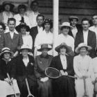The official opening of the Cosy Dell Lawn Tennis Club's courts. - Otago Witness, 7.10.1919.