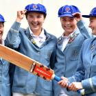 St Hilda's Collegiate and Otago Sparks foursome (from left) Eden Carson (18), Emma Black (18),...