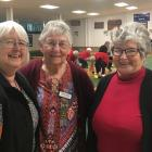 Mid Canterbury Federation of Women's Institutes representative bowlers Jude Vaughan, Denise Clark...