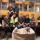 Attending the Elite Shearer Training beginner shearing course near Waimate last week were (back,...