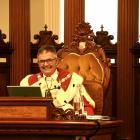 Mayor Dave Cull at his final Council meeting, Photo: Linda Robertson