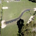 The Foster Dog Park pond will be fenced off while the district council deals with the toxic algae...