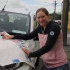 Environment Southland environmental education officer Hannah Sim looks over a map of Northern...