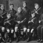The George Street School band, double quartette, which won first prize at the Dunedin...