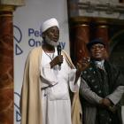 Imam Dr Muhammad Ashafa (left) and Pastor Dr James Wuye at a Peace One Day event at the Globe in...
