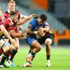 Vilimoni Koroi of Otago tries to break through the Canterbury defence. Photo: Getty Images