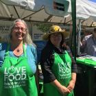 Waimakariri District Council solid waste manager Kitty Waghorn, left, and Eco Educate rethink...