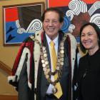 Mayor Sir Tim Shadbolt and Deputy Mayor Toni Biddle at the Murihiku marae where the Invercargill...