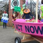 A group of environmentalists in Invercargill took to the streets yesterday to protest against...