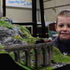 Rhys Horan proudly shows his model train layout at The Great Little Train Show in Invercargill....
