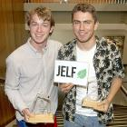Finn McCabe of Lyttelton and Eddie Hogan of Mt Pleasant were part of a team of four Cashmere High...