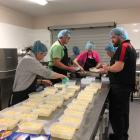Selwyn Bellyful volunteers making meals as part of the 'cookathon' at the Lincoln Event Centre.