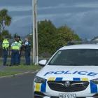 Police and ambulance officers attend a disorder incident in Mulford St, Concord. Photo: Linda...