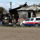 The Corbett Rd property north of Oamaru destroyed by fire last month. PHOTO: DANIEL BIRCHFIELD