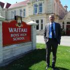 New Waitaki Boys' High School deputy rector Roger van Booma at the school ...