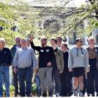 Former Otago University Students' Association president Paul Gourlie points out the sights of the...