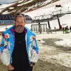 Coronet Peak ski area manager Nigel Kerr pictured at the skifield yesterday, its final day of...