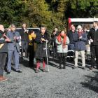 About 50 people, including those involved in the construction, attended a ceremony at the Ross...