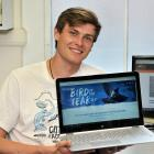 "University of Otago student Taylor Davies-Colley helped design the BNN ""Bird News Network'', set..."