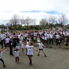 Participants in the first Night 'n Day Rainbow Run to be held in Wanaka had a warm-up session...