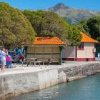 Repairs are needed to some sections of the Akaroa sea wall. Photo: Christchurch City Council