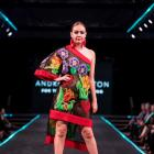 Sophie Mathias, of Alexandra, models Gore designer Andre Johnston's winning garment ''For the...
