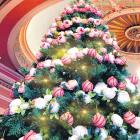 The Regent Theatre Christmas tree is bursting with colour, including 100 Hospice baubles. Photo:...