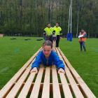 Georgia McEwan at the Conductive Education Otago Obstacle Course Race.