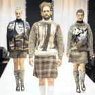 ''The Highlanders'' prize-winning collection, by Daphne Randle, of Alexandra, is modelled during...
