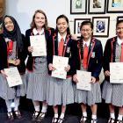 The Christchurch Girls' High Azul team won an award at the Young Enterprise Scheme regional...