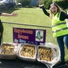 Happiness House volunteer Emma Lange (left) and KiwiHarvest Queenstown food co-ordinator Lucy...