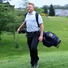 Ben Patston gets in some last-minute practice at St Clair Golf Club over the weekend. PHOTO:...