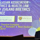 Dunedin Mayor Aaron Hawkins speaks at the opening of the Bioethics and Health Law and New Zealand...