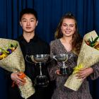 Sportsman of the year Sang-Yong Park and sportswoman of the year, Ellena Firth. Photo: Jon Davidson.
