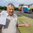 Riccarton resident Gavin Marriott is calling a $150 fine for crossing over a bus lane on...