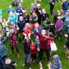 The West Otago A & P Show lolly scramble. PHOTOS: RICHARD DAVISON