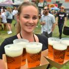 Georgia Crowie (26), from Emerson's Brewery, had a busy evening on her hands as thousands of...