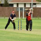 Lincoln's Adam Coleman at the crease during their four-wicket loss to Southbrook on Saturday....