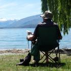 A visitor to Wanaka from Christchurch had Bremner Bay all to himself yesterday afternoon as...
