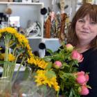 Linda McKenzie at work in her Mornington florist shop. PHOTO: GREGOR RICHARDSON