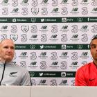 Danny Hay (left) and Winston Reid ahead of the All Whites' clash with Ireland. Photo: Getty Images