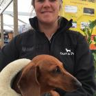 Harriet Bremner and her miniature dachshund Poppy at the New Zealand ...