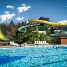 The largest water slide in NZ is now open —  just in time for the weekend. Photo: Supplied