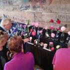 Flowers lined the walls of the Tipapa woolshed for the show. Photo: Supplied