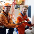 Ballance Agri-nutrients production manager Chris Kennett and his electrical apprentice Hayden...